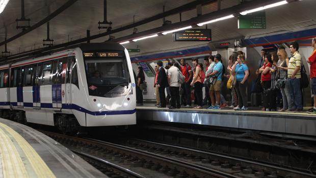 La estación de Metro de Sol, durante la huelga de maquinistas de 2016