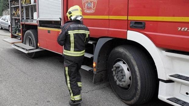 Imagen de archivo de un bombero