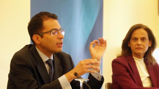 Cardoso y la directora de la Territorial Noroeste del BBVA, Yolanda Martínez-Bajo