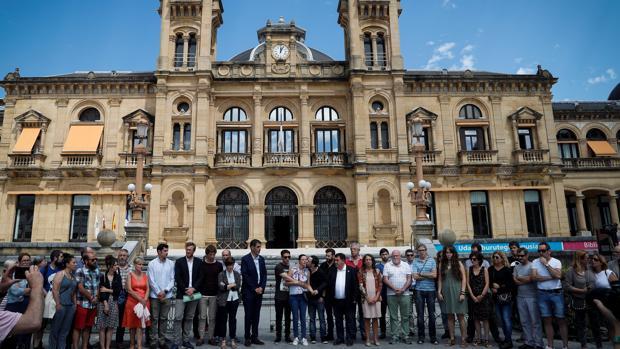 Manifestación de protesta por la agresión en San Sebastián