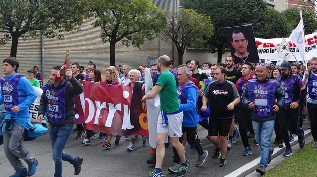 Una de las fotos que se exhibieron durante la carrera