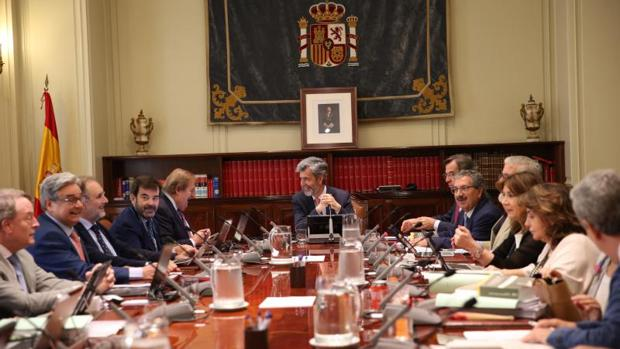 Pleno del CGPJ, presidido por Carlos Lesmes, en junio de 2018
