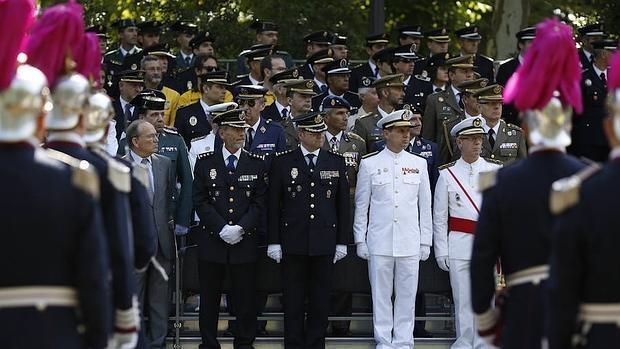 La Policía Municipal en el último patrón, que se celebró en junio de 2015