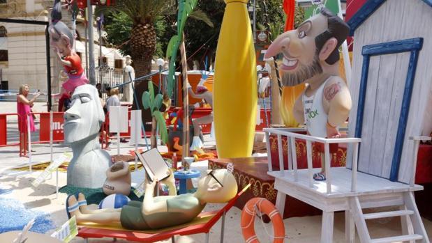 Hoguera de categoría especial Diputación-Renfe en Alicante