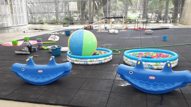 Detalle de algunos de los juegos acuáticos que habrá en el parque