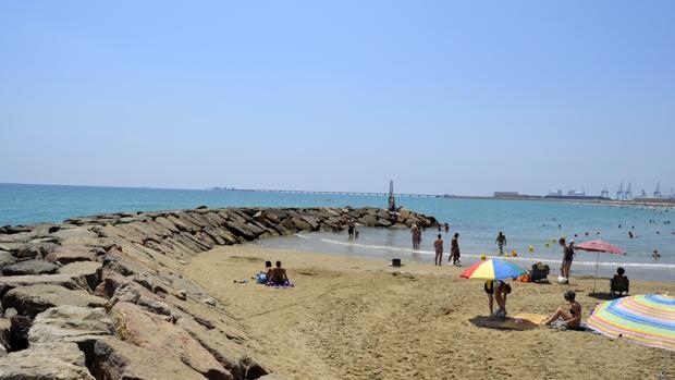 Imagen de la playa del Puerto de Sagunto