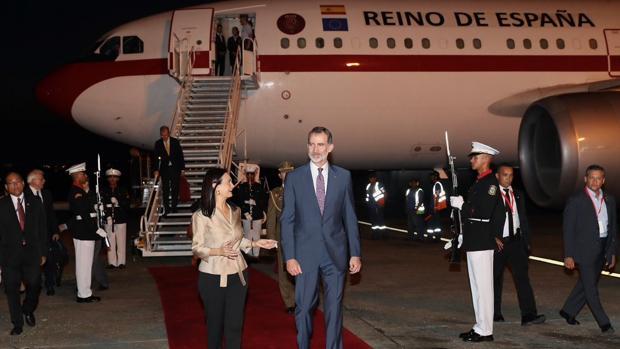 El Rey, a su llegada a Panamá