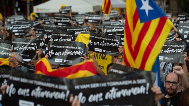 Manifestación independentista en una imagen de archivo