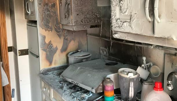 Imagen del estado en el que quedó la vivienda siniestrada