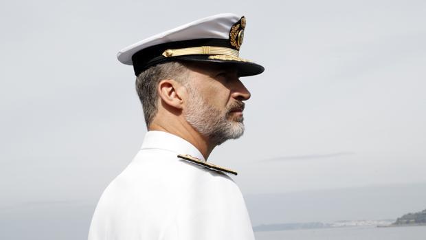 El Rey, en Marín, en el 300 aniversario de la Real Compañía de Guardamarinas, en 2017