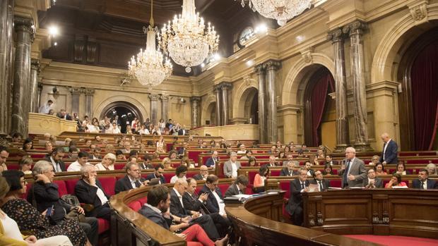 Hemiciclo del Parlamento de Cataluña , en la sesiónplenaria del 6 de septiembre de 2017