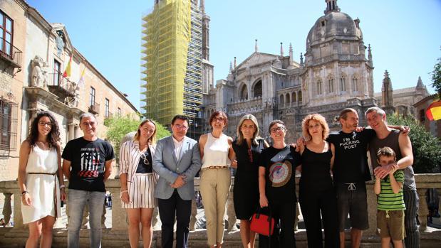 Presentación del Festival con la alcaldesa, Milagros Tolón