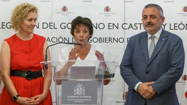 La delegada del Gobierno, Mercedes Martín, da detalles de la operación en Segovia