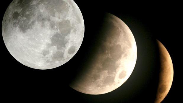 Las diferentes fases de un eclipse lunar