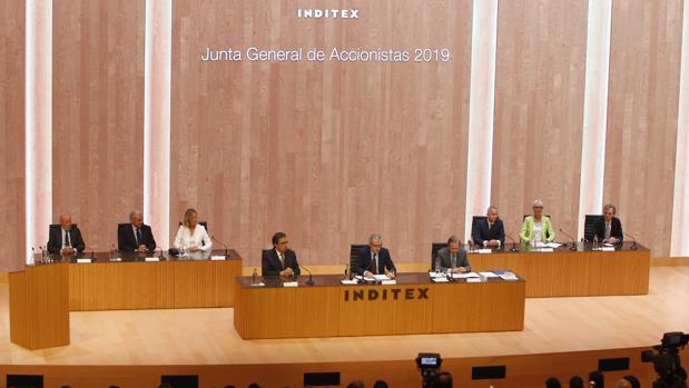 Junta general de accionistas de Inditex, celebrada este martes
