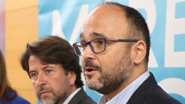 Carlos Alonso y el titular de Transición Ecológica de Canarias el 18 de julio de 2018