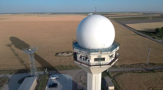 Radar de Enaire instalado en Valdespina (Palencia)