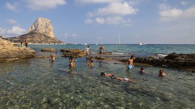 Los Baños de la Reina, en Calpe (Alicante)