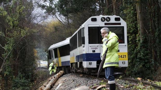 Accidente de un tren en Lugo, en una imagen de archivo