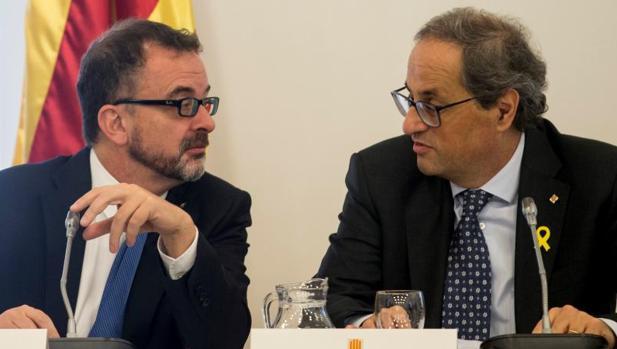 El consejero Bosch con el presidente Torra