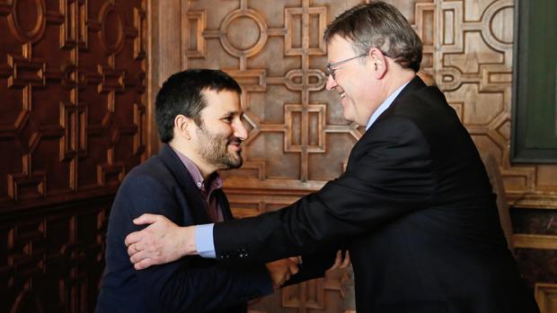 El conseller de Educación, Vicent Marzà, y el presidente de la Generalitat, Ximo Puig