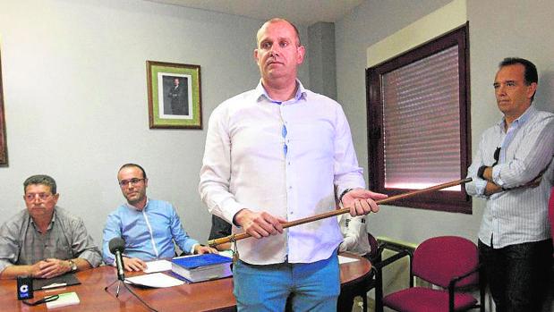 David García Montes, en su toma de posesión como alcalde de la localidad zamorana