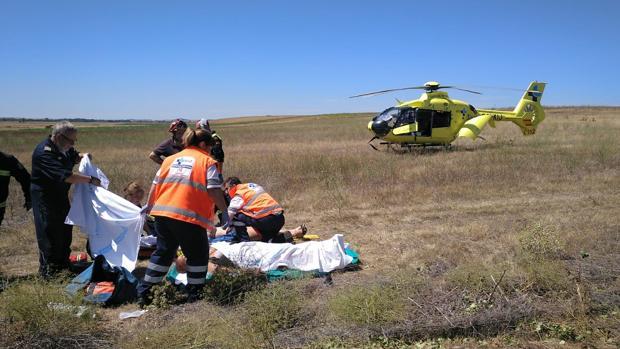 Accidente de tráfico en la A-67, en Osorno (Palencia), en el que cinco personas resultaron heridas
