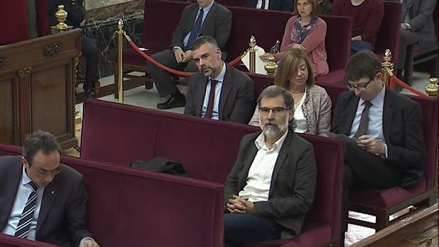 El presidente de la asociación independentista Òmnium Cultural, Jordi Cuixart durante el juicio del «procés»