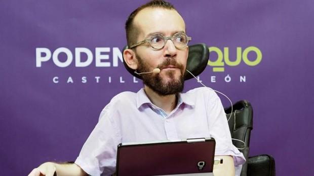 Pablo Echenique durante un acto de Podemos en Castilla y León