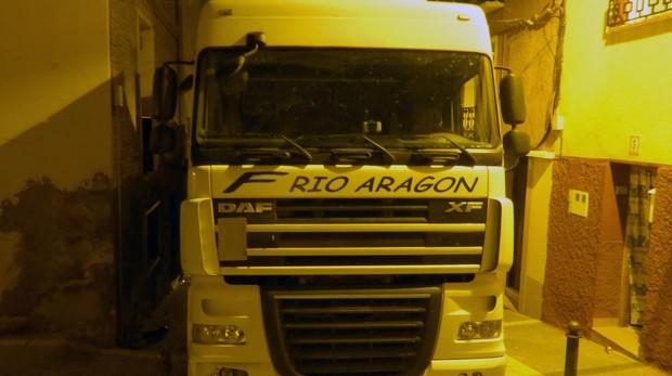 Imagen del camión empotrado