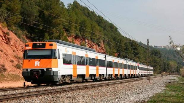 Un tren de Rodalies en Cataluña