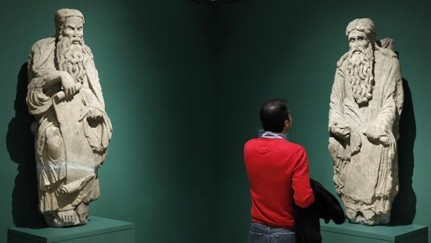 Las tallas, expuestas durante la exposición sobre el Maestro Mateo en el Museo del Prado