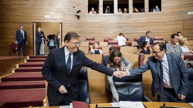 Imagen de archivo de Vicent Soler y Ximo Puig