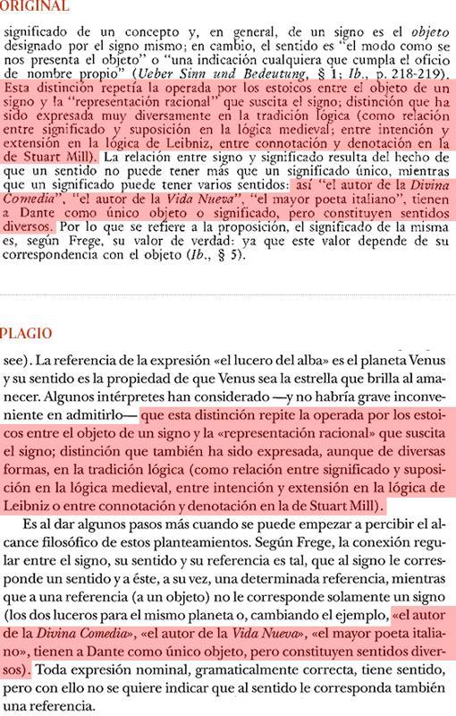 Plagio del libro de Cruz (pág. 193) a «Historia de la Filosofía», de Nicola Abbagnano (pág. 619)