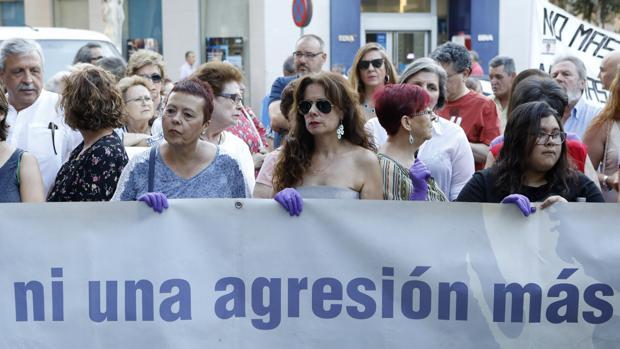 Manifestación en contra de la violencia machista