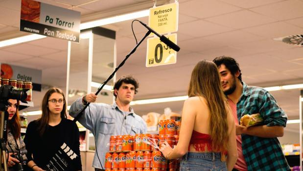 Imagen tomada durante el rodaje de la webserie