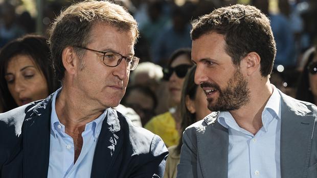 Alberto Núñez Feijóo y Pablo Casado