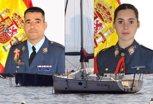Los militares fallecidos: Daniel Melero Ordóñez y Rosa María Almirón Otero
