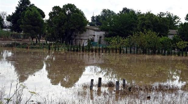 Zona anegada por la gota fria en Albacete