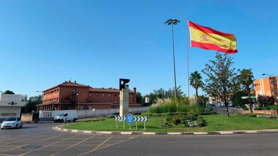 El PSOE se opone a colocar una bandera de España en la rotonda de la Base Aérea de Getafe