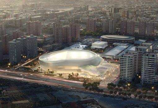 Proyecto presentado por Licampa para la construcción del Arena