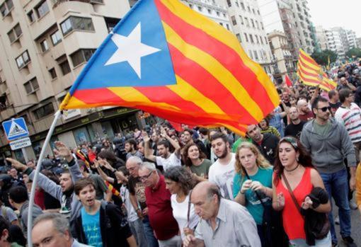 Imagen de una manifestación celebrada por las calles de Valencia