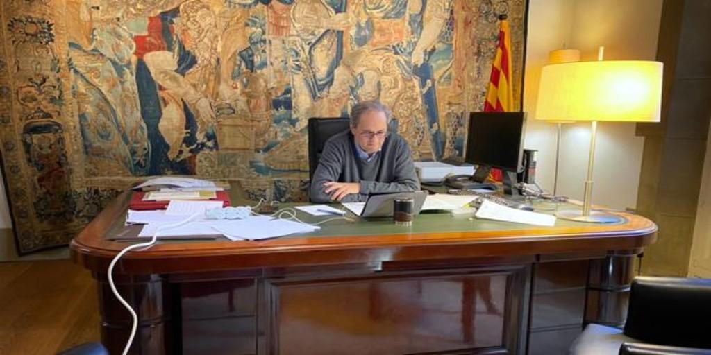 Cincuenta alcaldes catalanes reclaman apoyo a Torra y le reprochan su gestión de las tarjetas comedor