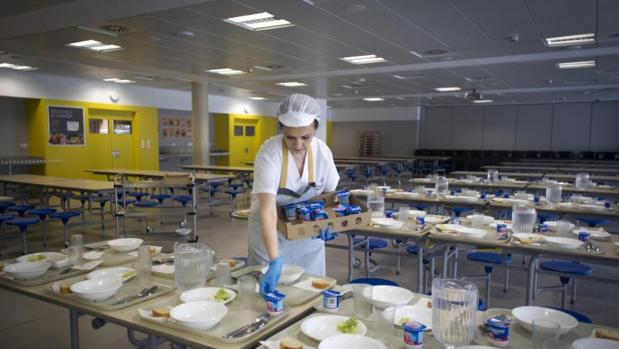 «Catering» para alumnos en un colegio de Alcalá de Henares