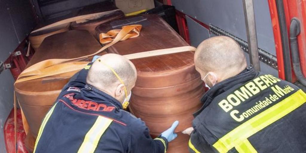 Los Bomberos hallaron 62 fallecidos en domicilios entre marzo y mayo en  Madrid