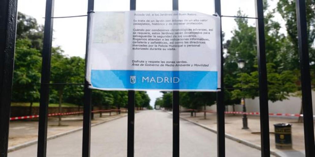 Cerrados El Retiro y otros ocho parques por las rachas de viento