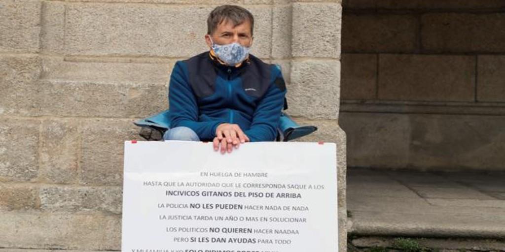 En huelga de hambre porque lleva un año sin dormir por el ruido de sus vecinos