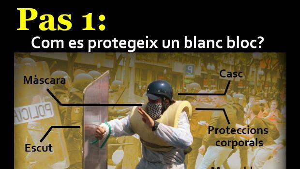 Manual de instrucciones para defenderse de la policía de Blanc Bloc