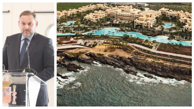 Ábalos alargó su visita a los inmigrantes en Canarias en un hotel de 5 estrellas con su familia, asesores y escoltas