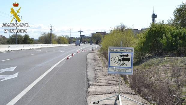 Cazado un motorista a 204 kilómetros por hora en un tramo de 90 en Santo...